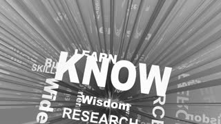 Know Learn Education Wisdom Knowledge Words 3 D Render Animation