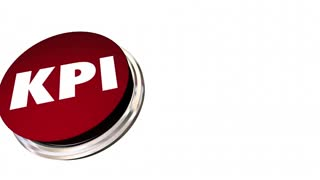 Kpi Key Performance Indicators Red Button Measure Results 3 D Animation