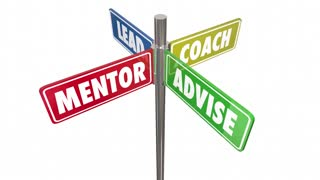 Lead Coach Mentor Advise Signs Seamless Looping 3 D Animation