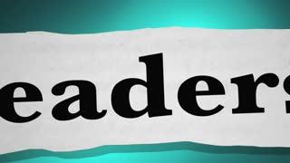 Leadership Management Motivation Headlines 3 D Animation