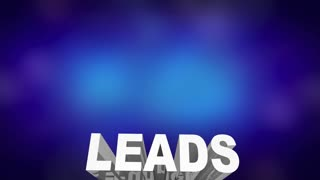 Leads New Business Prospects Customers Words 3 D Animation