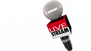 Live Stream Watch Event Online Microphone Box Seamless Looping 3 D Animation