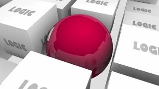 Logic Vs Emotion Cubes Sphere Feelings 3 D Animation