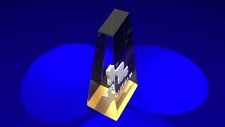Louisiana La State Map Award Best Prize Trophy 3 D Animation