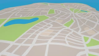 Mapping Navigation Direction Pins Map Route 3 D Animation