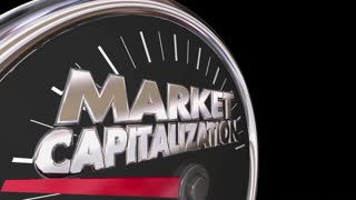 Market Capitalization Measure Company Value Stock Price 3 D Animation
