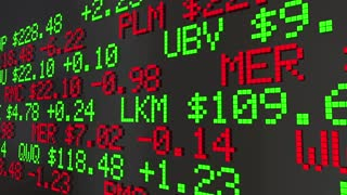 Market Valuation Company Worth Capitalization Ticker Prices 3 D Animation
