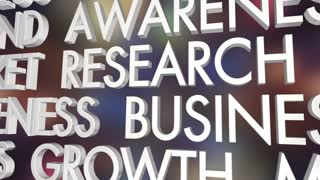 Marketing Research Lead Generation Business Growth Word Collage 3 D Animation