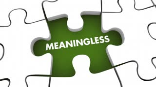 Meaningless Vs Finding Meaning Puzzle Pieces 3 D Animation