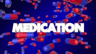 Medication Pills Capsules Medicine 3 D Animation