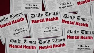 Mental Health Disorder Psychiatry Condition Newspapers 3 D Animation