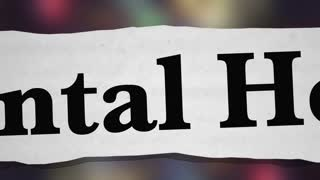 Mental Health Disorders Depression Bipolar Newspaper Headlines 3 D Animation