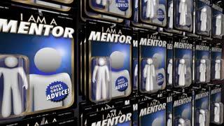 Mentor Advisor Teacher Guide Advice Action Figure 3 D Animation