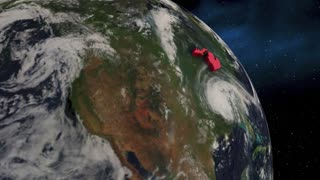 Michigan State Mi Earth Satellite Space 3 D Animation