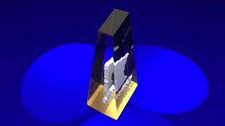 Minnesota Mn State Map Award Best Prize Trophy 3 D Animation