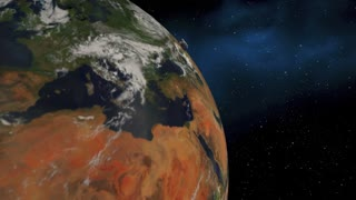 Network Satellite Telecommunications Signal Coverage Earth 3 D Animation - Elements of this image furnished by NASA