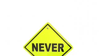 Never Stop Believing Road Street Signs Have Faith 3 D Animation