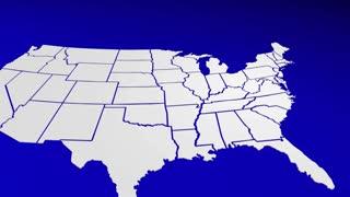 New Jersey Nj California Ca State Map Pin Location Navigation Destination