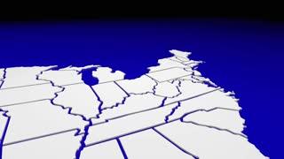 New York Ny State Map Pin Location Navigation Destination