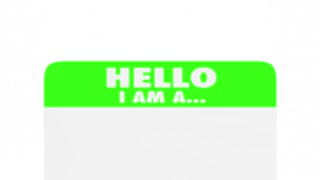 Newbie New Employee Member Introduction Hello Nametag 3 D Animation