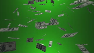 No Money Down Payment Cash Falling 3 D Animation