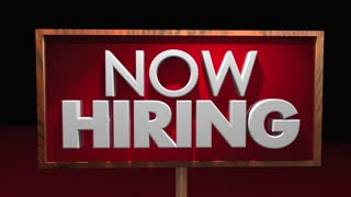 Now Hiring New Open Jobs Positions Attract Candidates Sign 3 D Animation