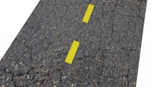 On Budget Spending Saving Money Finances Road Arrow 3 D Animation