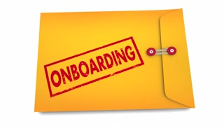 Onboarding Information Details Welcome New Member Employee Envelope 3 D Animation