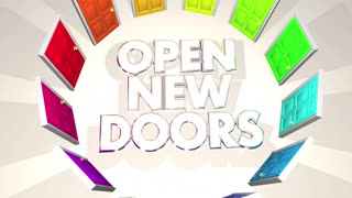 Open New Doors Challenges Opportunities Words 3 D Animation
