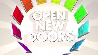 Open New Doors Challenges Opportunities Words 3 D Animation