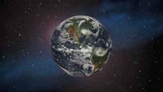 Origin Beginning Earth Planet Space Universe 3 D Animation