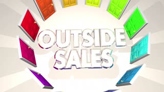 Outside Sales Selling Doors Finding New Customers 3 D Animation
