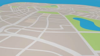 Parking Lot Spaces Designated Area Map Pin 3 D Animation