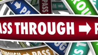 Passthrough Tax Corporation Shelter Pass Through 3 D Animation