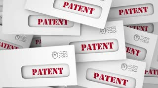 Patent Applicaiton Approved New Invention Copyright Envelopes 3 D Animation