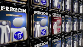 Perfect Person Choose Best Candidate Choice Vending Machine 3 D Animation