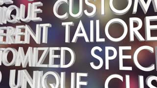 Personalized Custom Unique Special Word Collage 3 D Animation