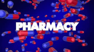 Pharmacy Prescription Medication Pills Capsules 3 D Animation