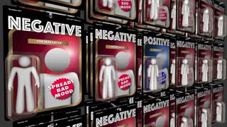Positive Vs Negative Good Attitude People Action Figures 3 D Animation