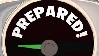 Prepared Readiness Level Ready Robot Word 3 D Animation