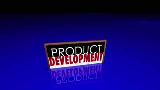 Product Development Signs People Working New Business 3 D Animation