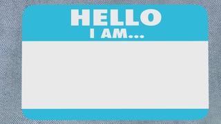 Profitable Hello Name Tag Making Money Successful 3 D Animation