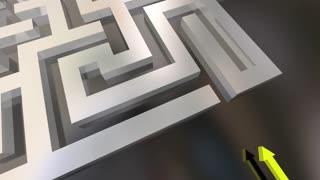 Project Management Guide Plan Initiative Through Maze 3 D Animation