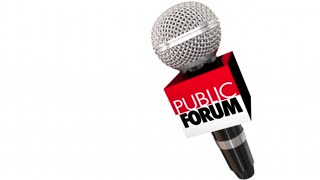Public Forum Meeting Open Discussion Microphone Seamless Looping 3 D Animation