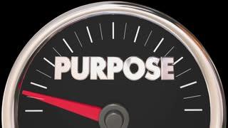 Purpose Mission Goal Reason Speedometer 3 D Animation