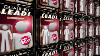 Qualified Lead Sales Marketing New Customer Prospect Action Figures 3 D Animation