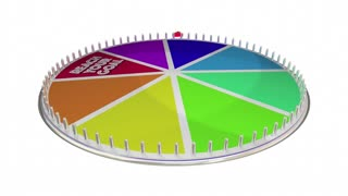 Reach Your Goal Achieve Success Win Game Wheel 3 D Animation