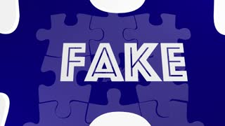Real Vs Fake True False Truth Puzzle Piece Filling Hole 3 D Animation