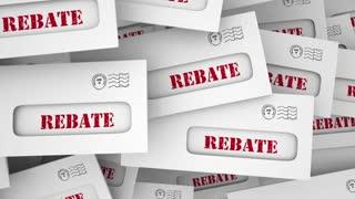 Rebate Get Money Back Tax Return Envelope 3 D Animation