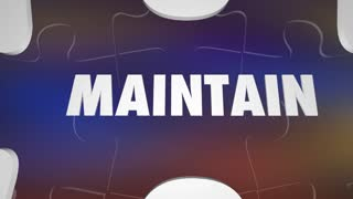 Rebuild Vs Maintain Renovate Replace With New Puzzle Words 3 D Animation